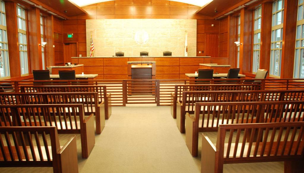 Houston criminal courtroom