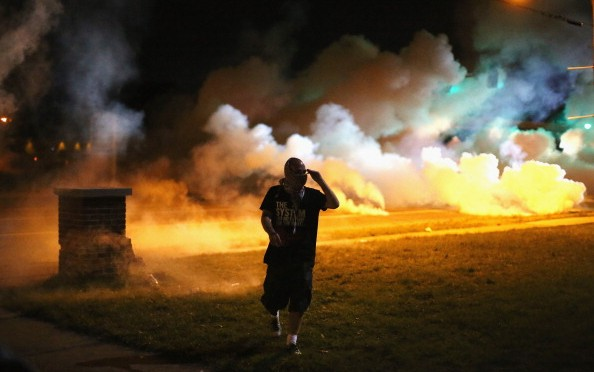 Tear gas deployed on Ferguson, Missouri crowd